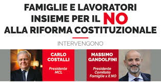 REFERENDUM: NO CATTOLICO. SABATO A ROMA UN GRANDE EVENTO, FAMILY DAY E MCL