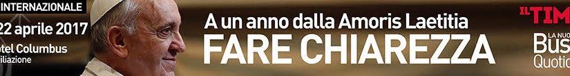 LA CONFUSIONE DI AMORIS LAETITIA. UN CONVEGNO A ROMA SOLO PER LAICI. CHIEDERE CHE PIETRO DIA CHIAREZZA. CHIARAMENTE.