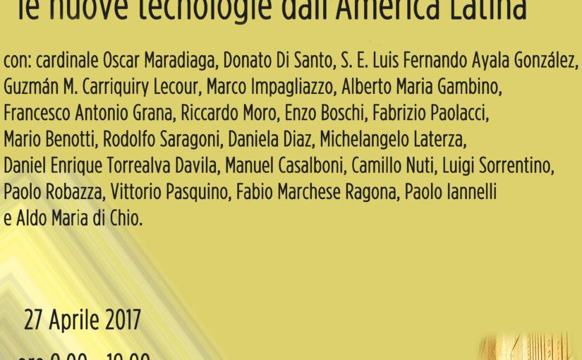 TOC TOC: TERREMOTI. DALL'AMERICA LATINA ALL'ITALIA, IDEE E SOLUZIONI. CONVEGNO A ROMA SOTTO L'EGIDA DELLA CHIESA.