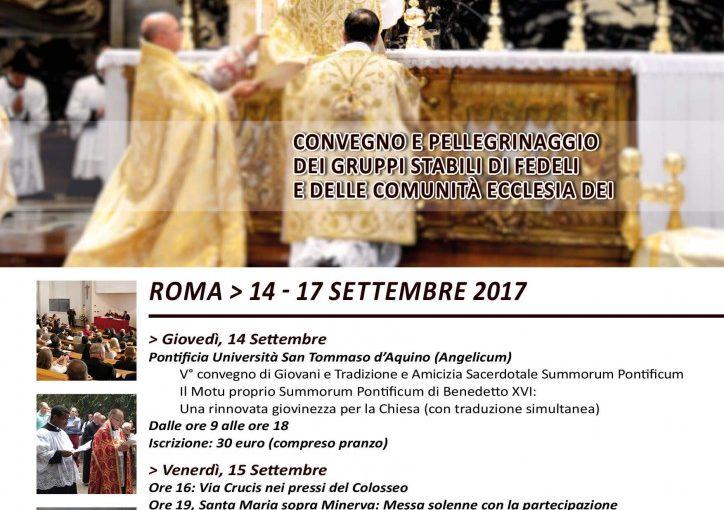 ROMA: SI CELEBRA IL RITO ANTICO. DAL 14 AL 17 SETTEMBRE PELLEGRINAGGIO, ADORAZIONE E UN CONVEGNO.